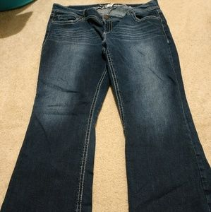 Maurice's 22 short boot cut jeans